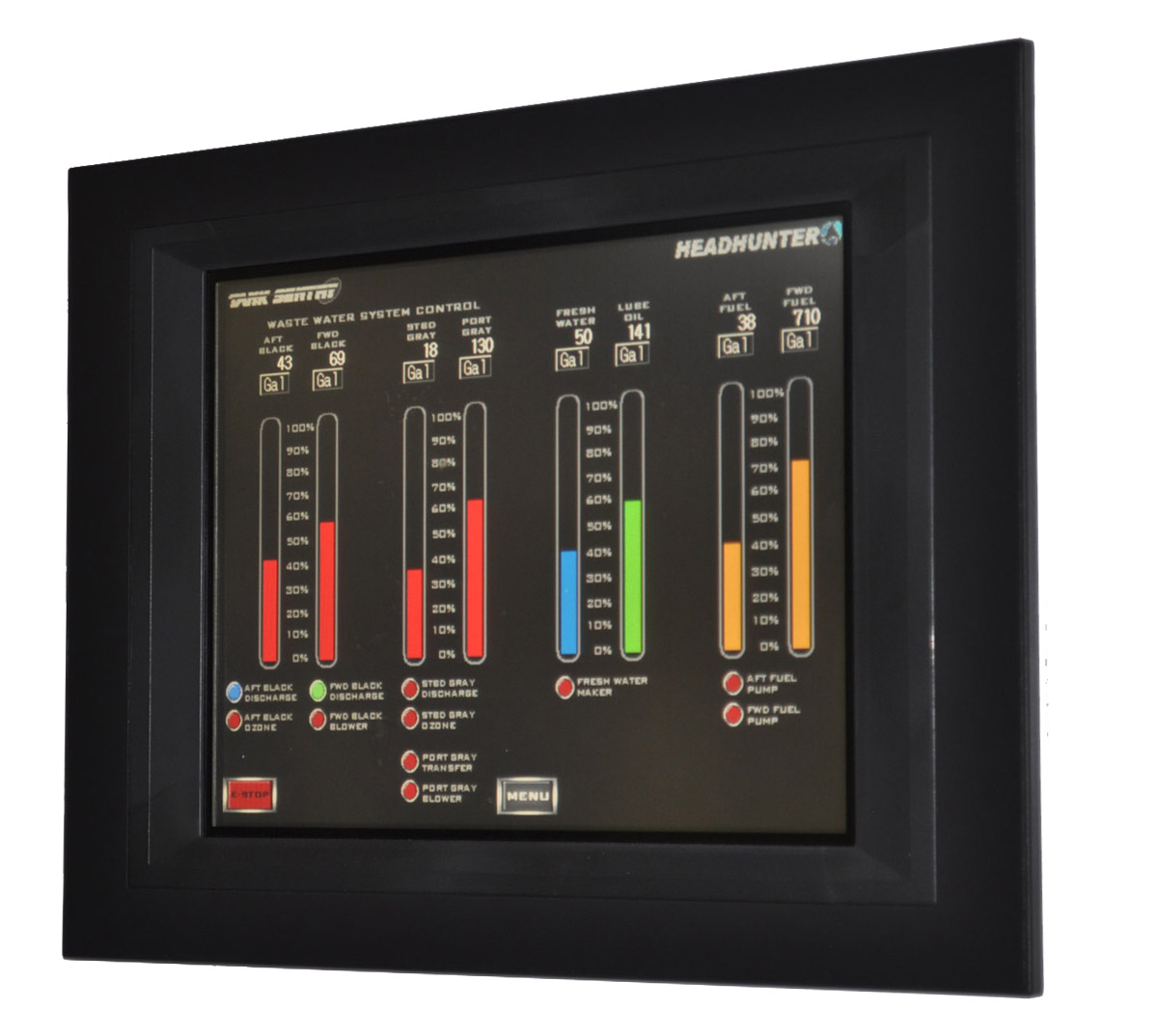 Tank Sentry Touch Screen Plc Fluid Level Monitoring System
